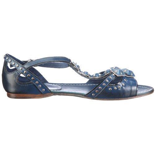 Giudecca Camandag LHXS1102 - Sandalias de vestir de cuero para mujer Azul