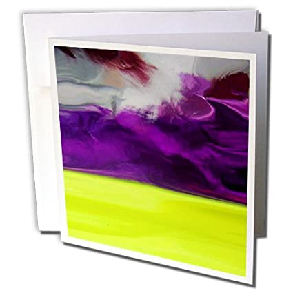 amazon com florene foil abstract art image of purple chartreuse