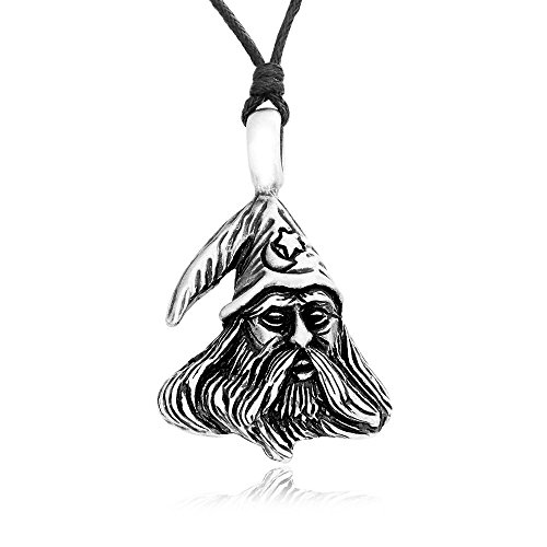 [Dan's Jewelers Merlin Magic Wizard Necklace Pendant, Fine Pewter Jewelry] (Merlin Costumes)