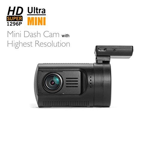 Dashboard Camera, SplashETech Mini 0806 Dash CamWorld's Smallest Dash Camera W/ Screen Amba A7LA50 + OV4689, HDR, Full HD 1296P, Car Recorder, Dvr Car Camera with GPS Logger