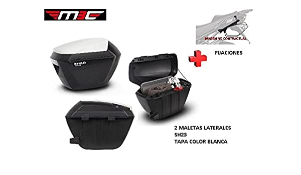 KIT SHAD fijacion+ maletas laterales tapa blanca SH23 KAWASAKI VERSYS X-300 2017: Amazon.es: Coche y moto