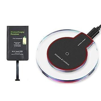 Heliomax negro cargador inducción LED cargador inalámbrica ...
