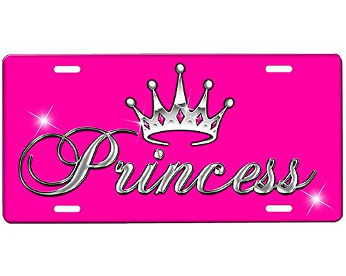 Firefighter Plate 7 - Princess Crown (7) Personalized Aluminum License Plate Metal Sign Novelty Vanity Tag Sign Auto Car Accessories 6