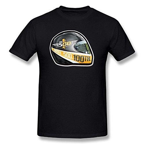 NUBIA Indy500 Helmet Fashion Tshirt For Mens Black Size XXL