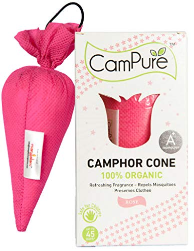 Mangalam CamPure Camphor Cone (Rose) – Room, Car and Air Freshener & Mosquito Repellent (Pack Of 2)