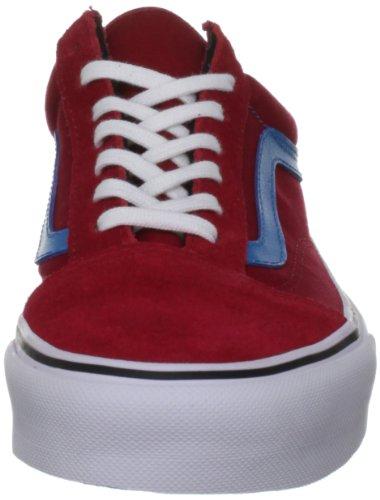 Vans U OLD SKOOL CHILI PEPPER/ME - Zapatillas de cuero unisex rojo - Rot (chili pepper/me)