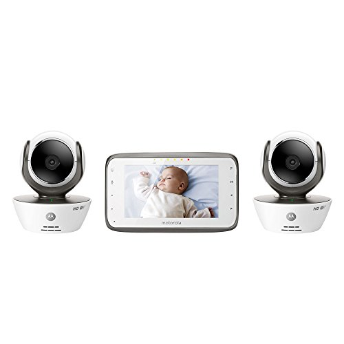 Motorola MBP854CONNECT-2 Dual Mode Baby Monitor with 2 Cameras and 4.3-Inch LCD Parent Monitor and Wi-Fi Internet Viewing