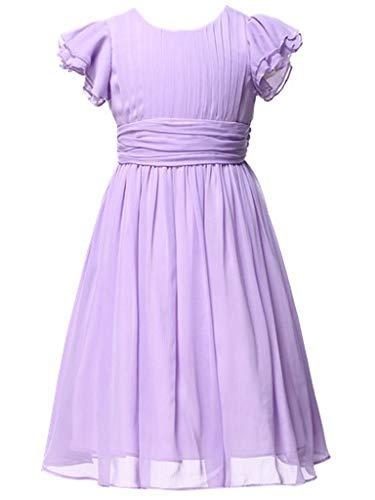 Happy Rose Flower Girl's Dress Prom Party Dresses Bridesmaid Dress Lavender -