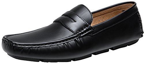 JOUSEN Men's Loafer Lightweight Slip On Driving Shoes Soft Penny Loafers (11,Black) (Shoes Loafer Driving)