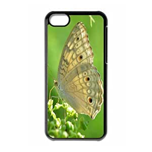 Cases for IPhone 5C, Butterfly 38 Cases for IPhone 5C, Evekiss Black