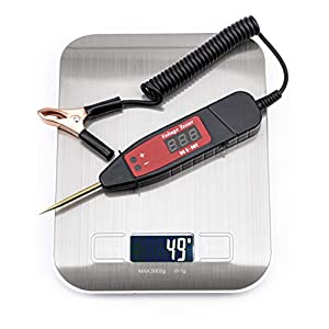 CACAG Car Digital LCD Circuit Tester Automotive Low Voltage & Light Tester Diagnostic Test Tool