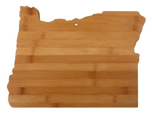 "Totally Bamboo State Cutting & Serving Board – ""OREGON"", 100% Organic Bamboo Cutting Board for Cooking, Entertaining, Décor and Gifts. Designed in the - Portland Wood"