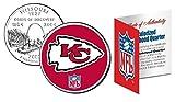 Licensed Kansas City Chiefs NFL Colorized Missouri Statehood Quarter! W/H COA & Display Stand!