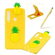 TPU Case for Samsung Galaxy A9 2018,Soft Rubber Cover for Samsung Galaxy A9 2018,Herzzer Ultra Slim Stylish 3D Pineapple Series Design Scratch Resistant Shock Absorbing Flexible Silicone Back Case