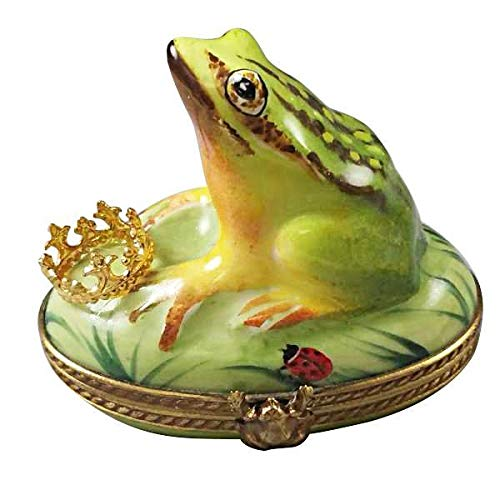 Frog with Crown - French Limoges Boxes - Porcelain Figurines Collectible Gifts ()