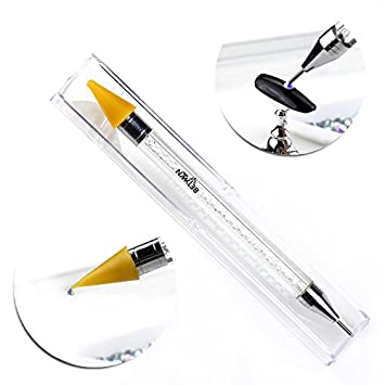 NMKL38 Dual Ended Wax Nail Rhinestones Picker Pencil