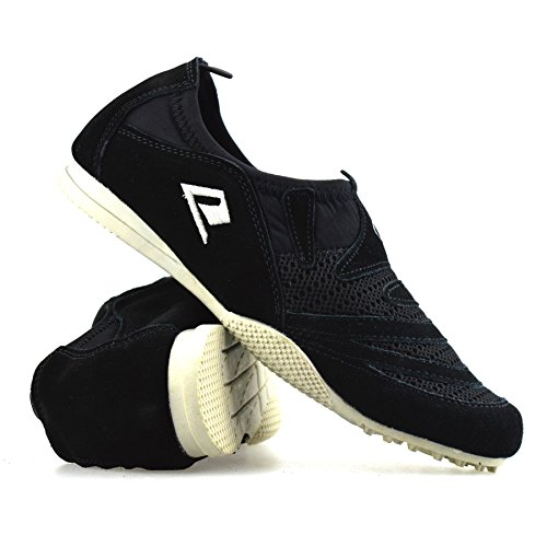 Running Womens Shoes Slip On Ladies New Walking Trainers Casual Gym Leather Black 0UawSq