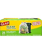 Glad Outdoor Drawstring Recycling Trash Bags, Large, 28 Count