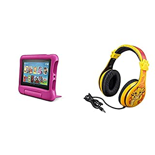 Fire 7 Kids Edition Tablet + Lion King Headphones