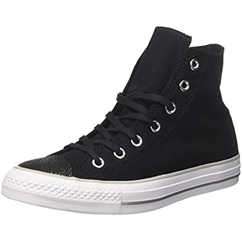 Converse Ctas Hi Black/Silver/White, Baskets Hautes Mixte Adulte