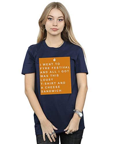 Absolute Azul Marino Camiseta Del Souvenir Fyre Novio Festival Fit Drewbacca Mujer Orange Cult r7TP4r