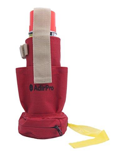 AdirPro 770-02 Spray Can Holster & Flag Tape Dispenser with Pockets, Belt Loop & Belt Clip ()