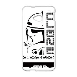 HTC One M7 Cell Phone Case White Clone Trooper Face JSK875921