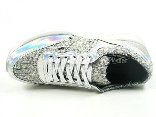 Zapatillas mujer de cuero Samoa 61176396 para SPM Gold qSPRwpEWx