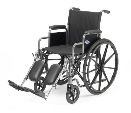 Veranda 18 Standard Wheelchair Arm Type: Removable Desk Length, Front Rigging: Elevating Legrests by Invacare Invacare Legrest