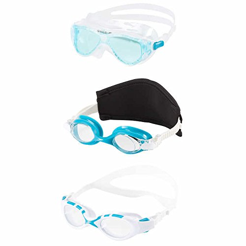 Speedo Light Blue Junior Swim Goggles 3-Pack