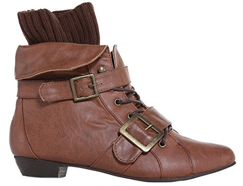 Faux Pull Leather Ladies Low Womens Boots Ankle Booties Heel On Size B Shoes Flat Faux Style Chelsea Pixie Leather Tan w1CSg