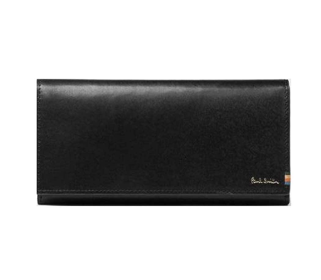 ポールスミス Paul Smith 財布 ポールスミス 財布 メンズ ストライプステッチタブ かぶせ 長財布 B07HFCP8H1 ブラック