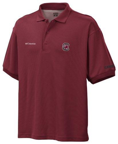 NCAA South Carolina Fighting Gamecocks Collegiate Perfect Cast Polo Shirt, Beet, Small