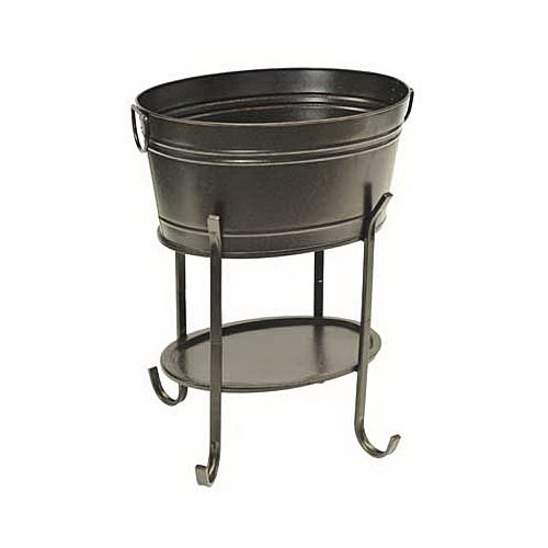 sunjoy industries l-bt153pst Black, Steel, Party Tub by Sunjoy Industries