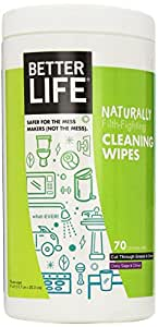 Better Life Natural All-Purpose Cleaner Wipes, Clary Sage & Citrus, 70 Count, 2408