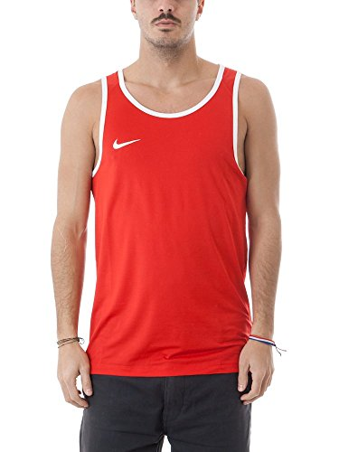D¨¦bardeur Nike Dry Basketball Track pour Homme Rouge / Blanc Taille XX-Large