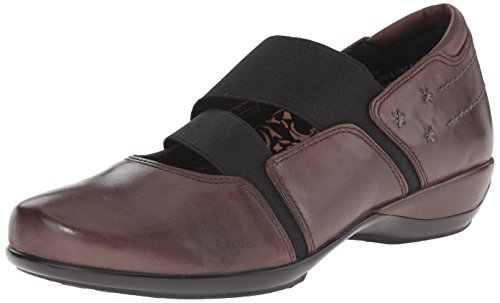 Aetrex Women's Julie Mary Jane, Java, 36 EU/6-6.5 M US (Mary Leather Aetrex Janes)