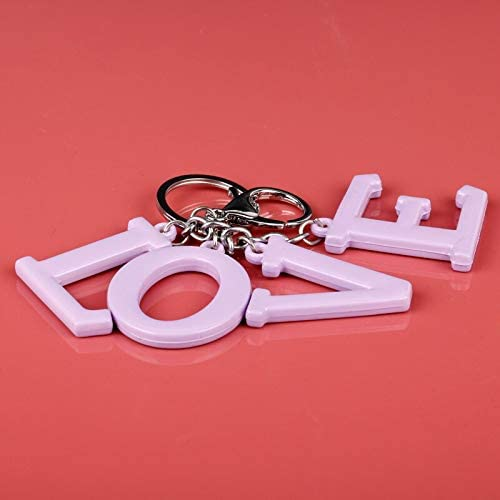 Fahion Lover Keychain Letter Love Charm Handbag Car Purse Bags Keys Chains Rings Keyring for Women Girls Key Holder Gifts FITIONS