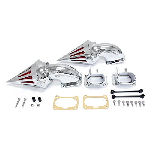 Krator Chrome Dual Spike Air Intake Cleaner - Plus Filter For 2007 Suzuki Boulevard M109