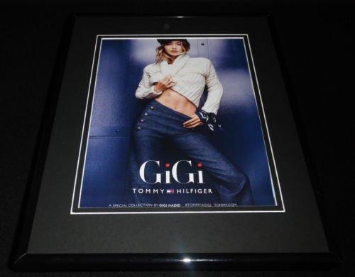 gigi-hadid-2016-tommy-hilfiger-framed-11x14-original-advertisement-d