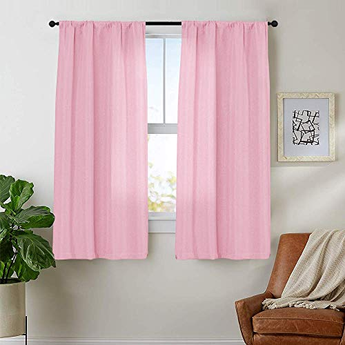jinchan Linen Textured Curtains ...