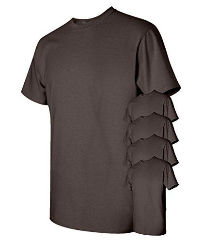 Gildan Men's Classic Heavy Cotton T-Shirt, Dark Chocolate, M (Pack of (Chocolate Heavy Cotton T-shirt)