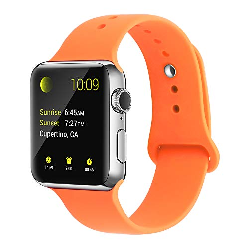 YunTree Compatible with Apple Watch Band 38mm/40mm S/M Size iWatch Sports Band Replacement for Women Man Apple Watch Series 4/3/2/1 Size Comfortable Silicone Strap-Orange