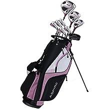 Premium Lightweight Ladies Golf Club Set Right Hand - Cherry Pink Purple, All Sizes - Standard, Petite, Tall, Clubs with Lady Flex