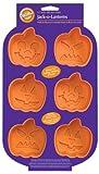 Wilton Pumpkin Faces 6 Cavity Silicone Mold