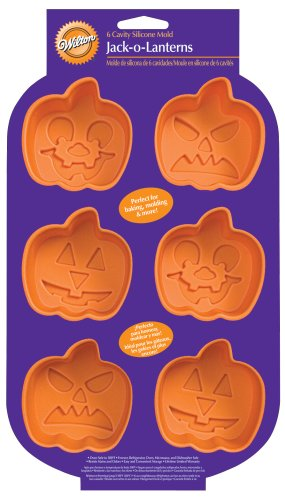 Wilton Pumpkin Faces 6 Cavity Silicone Mold