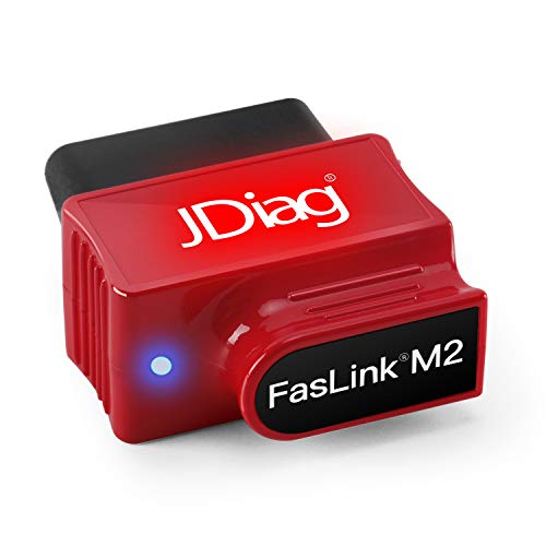 JDiag Bluetooth OBD2 Scanner Car Engine Code Reader Obd Diagnostic Tool for IOS and Android with Voice Control Function