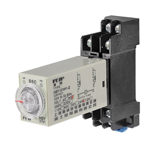 erminals Range Adjustable Delay Timer Time Relay H3Y(ST6P)-2 with Base ()