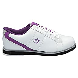 BSI Womens Sport Leather Bowling Shoes (8 M US, White/Purple)