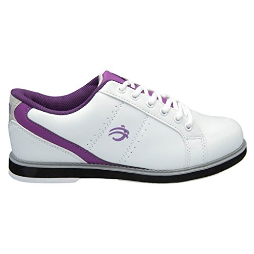 Bowlers Superior Inventory BSI Womens Sport Leather Bowling Shoes (11 M US, White/Purple) by Bowlers Superior Inventory